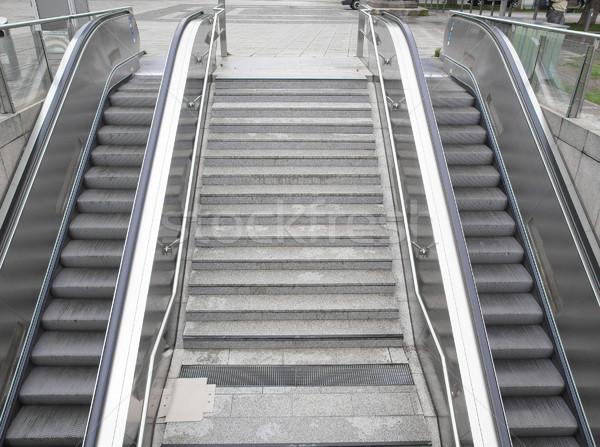 Escalator escaliers métro gare supermarché ville Photo stock © claudiodivizia