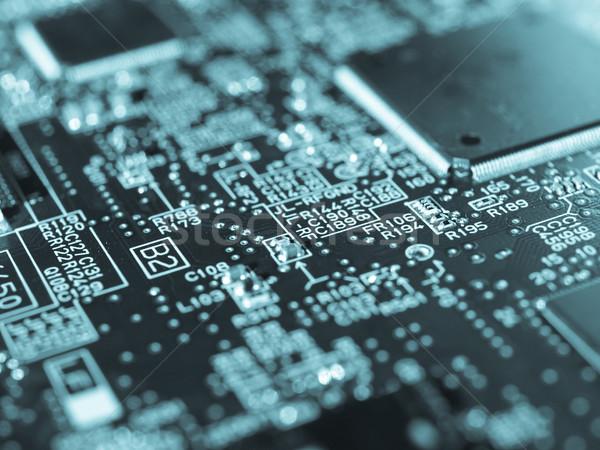 Basılı devre detay elektronik baskılı devre bilgisayar Stok fotoğraf © claudiodivizia