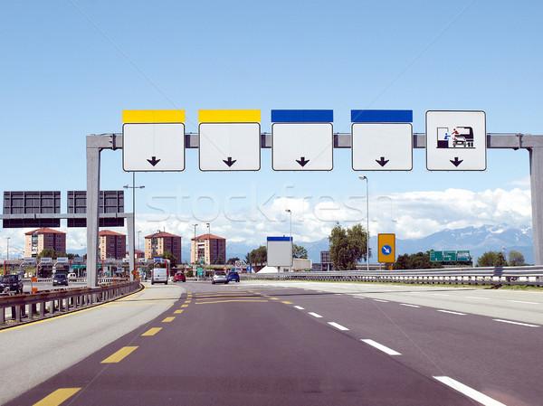 Otoyol perspektif görmek araba kabin Stok fotoğraf © claudiodivizia