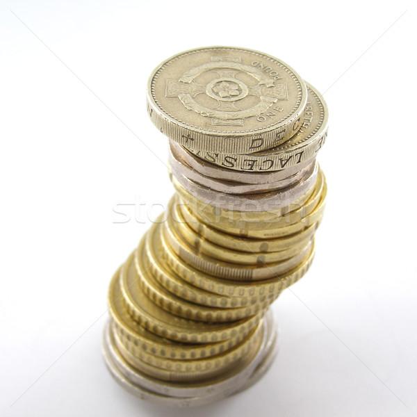 Geld Euro Finanzierung Bank Münzen Stock foto © claudiodivizia