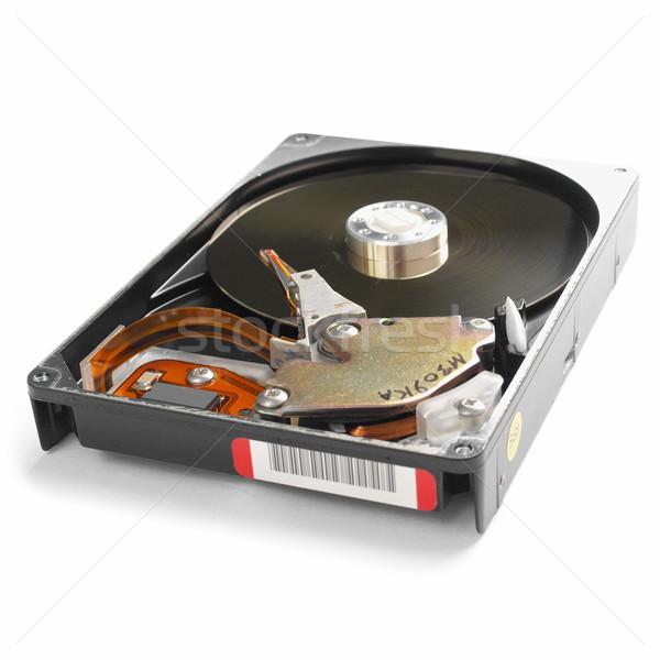 Pc Festplatte magnetische Laufwerk Datenspeicherung Technologie Stock foto © claudiodivizia