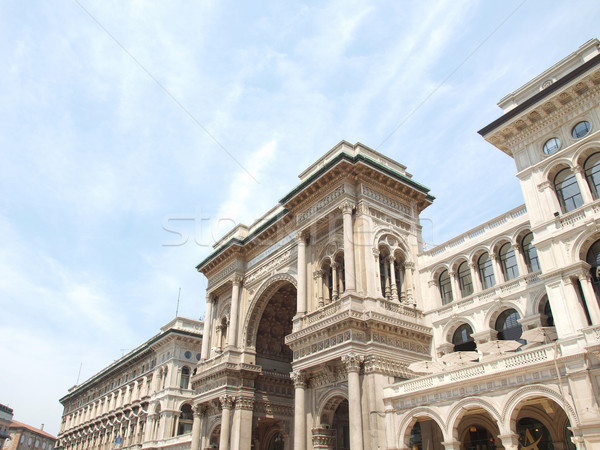 Milaan Italië vintage Europa oude stad Stockfoto © claudiodivizia