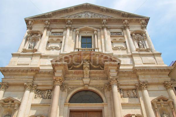 Kerk milaan Italië vintage godsdienst geloof Stockfoto © claudiodivizia