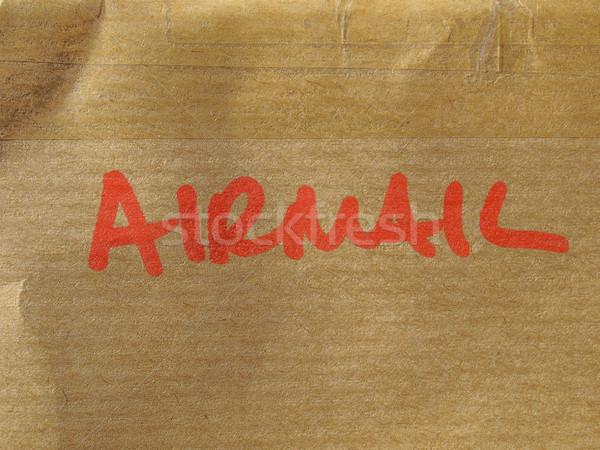 Havayolu detay mektup zarf gönderemezsiniz kâğıt Stok fotoğraf © claudiodivizia