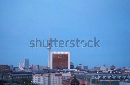 Berlin kilátás város Németország sziluett Stock fotó © claudiodivizia