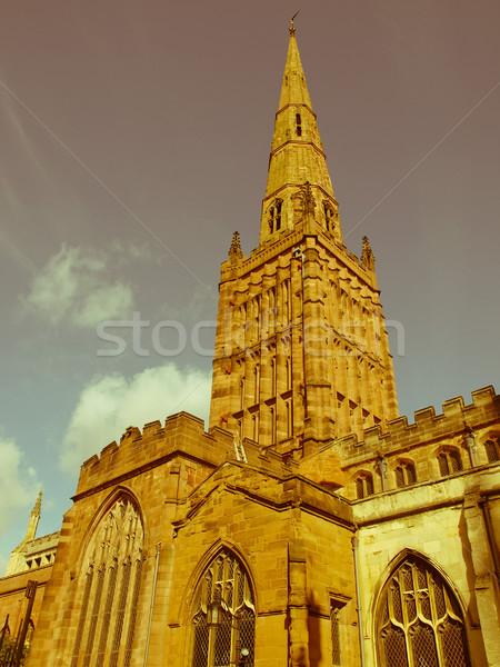 Retro looking Holy Trinity Church, Coventry Stock photo © claudiodivizia
