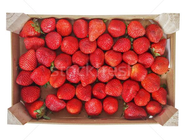 Fraises fruits fraise fruits jardin caisse Photo stock © claudiodivizia