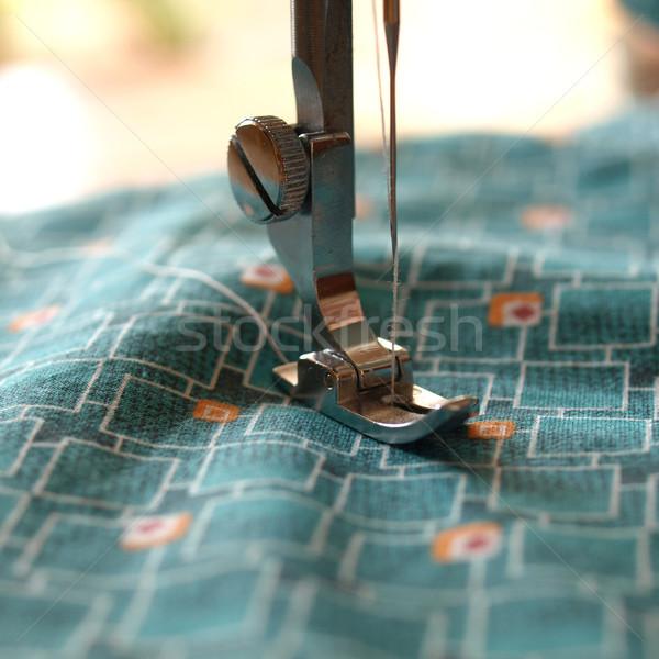 Maszyny do szycia szczegół igły moda tkaniny Zdjęcia stock © claudiodivizia