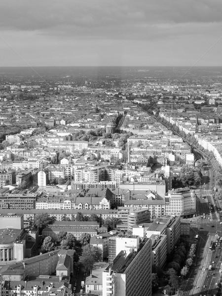 ベルリン 表示 市 ドイツ 黒白 ストックフォト © claudiodivizia