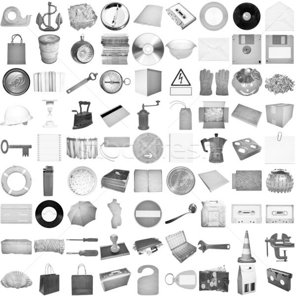 Muchos objetos aislado objeto blanco todo Foto stock © claudiodivizia