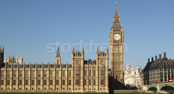 Big Ben Londres maisons parlement westminster palais Photo stock © claudiodivizia