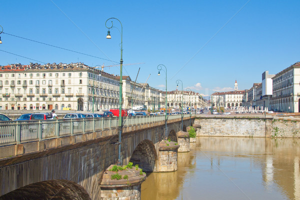 Piazza Vittorio, Turin Stock photo © claudiodivizia
