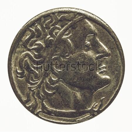 Stockfoto: Romeinse · munt · oude · geld · retro · vintage