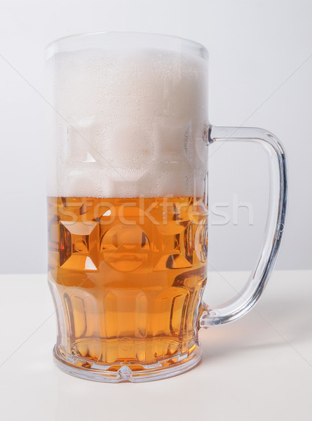 Lager beer glass Stock photo © claudiodivizia