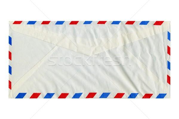 Havayolu mektup zarf yalıtılmış beyaz arka plan Stok fotoğraf © claudiodivizia