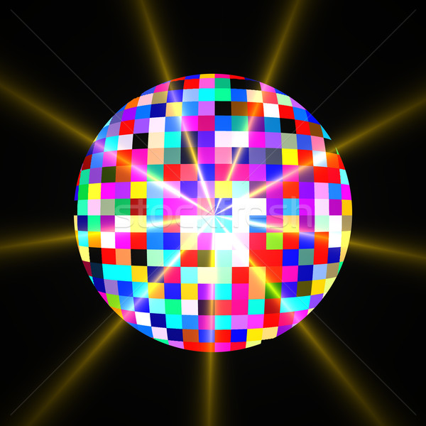 Disco mirror glitter ball Stock photo © claudiodivizia