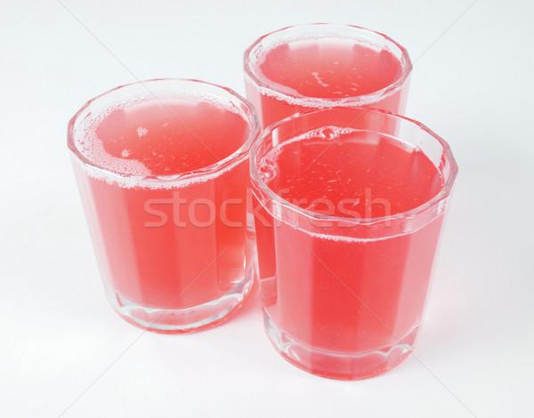 Roze grapefruit sap bril continentaal ontbijt tabel Stockfoto © claudiodivizia