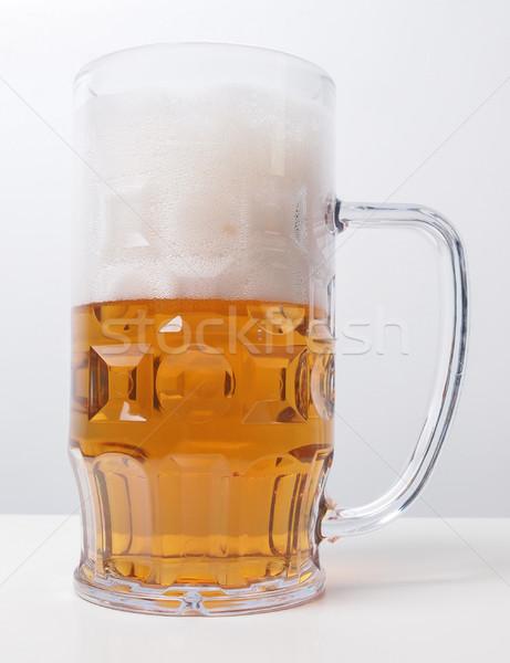 Lager beer glass Stock photo © claudiodivizia