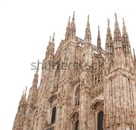 ミラノ ミラノ ゴシック 大聖堂 教会 孤立した ストックフォト © claudiodivizia