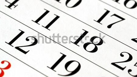 Calendar Stock photo © claudiodivizia