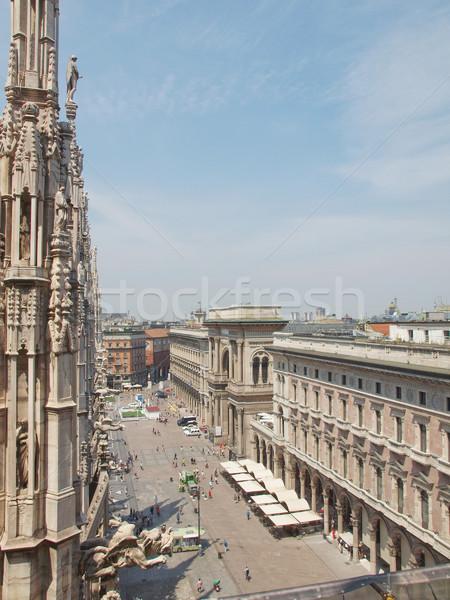 Stockfoto: Milaan · Italië · stad · gebouw