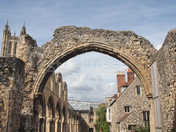 Abdij ruines kerk architectuur vintage Europa Stockfoto © claudiodivizia