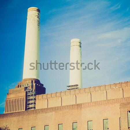 London elektromos erőmű Anglia ipari retro építészet Stock fotó © claudiodivizia