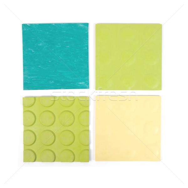 Green rubber linoleum sample Stock photo © claudiodivizia