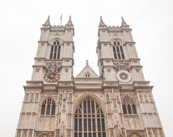 Westminster abbaye église Londres rétro Angleterre Photo stock © claudiodivizia