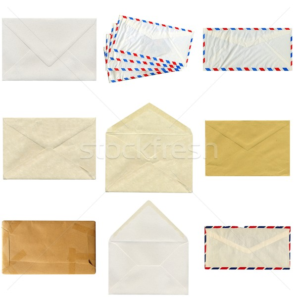 Carta collage pequeño dotación aislado blanco Foto stock © claudiodivizia