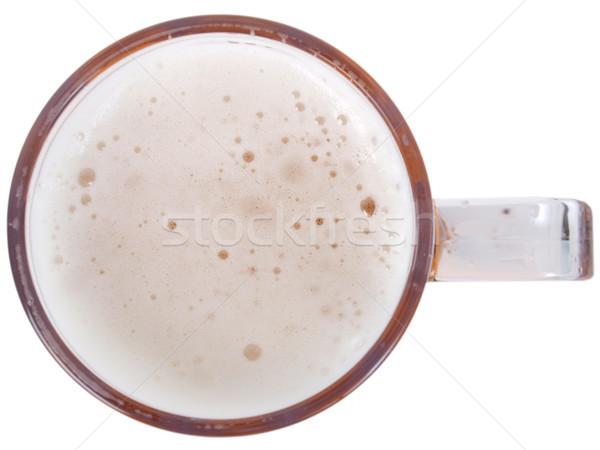 Bira cam büyük kupa yarım bir Stok fotoğraf © claudiodivizia