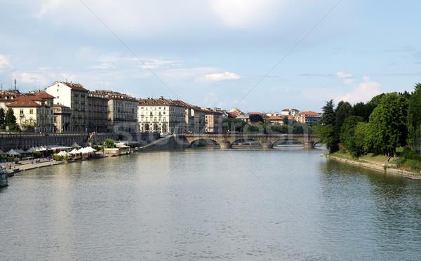 River Po, Turin Stock photo © claudiodivizia