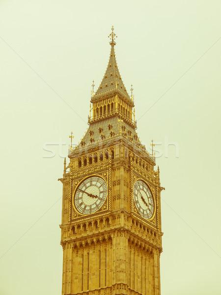 Retro looking Big Ben Stock photo © claudiodivizia