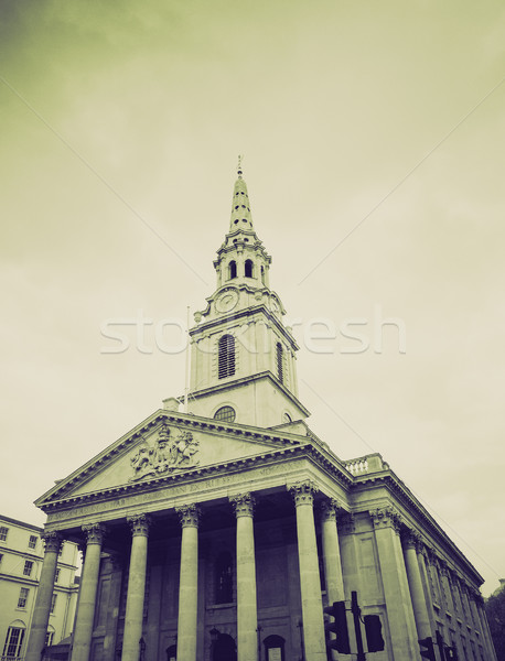 Vintage sepia St Martin church, London Stock photo © claudiodivizia