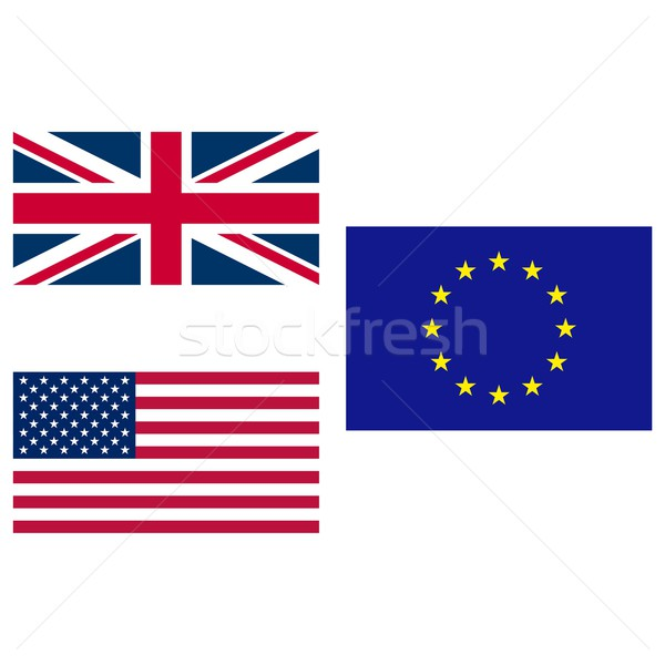 Stock photo: UK USA EU flag