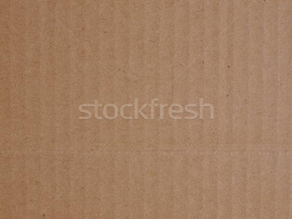 Carton brun utile papier fond mail Photo stock © claudiodivizia