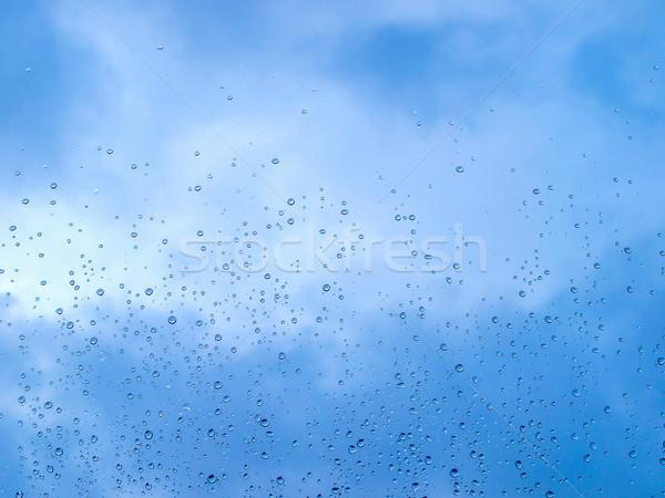 Regen Tröpfchen Wassertropfen nützlich Wasser Wolken Stock foto © claudiodivizia