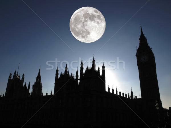 Házak parlament goth éjszaka kilátás sziluett Stock fotó © claudiodivizia