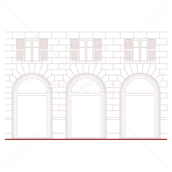 Neoclassical facade Stock photo © claudiodivizia