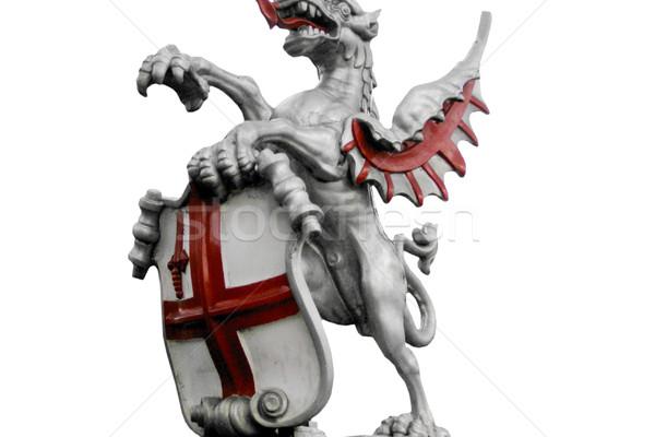 Dragon symbole Angleterre Londres pavillon blanche Photo stock © claudiodivizia