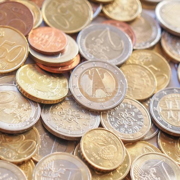 евро монеты монетами валюта европейский Союза Сток-фото © claudiodivizia