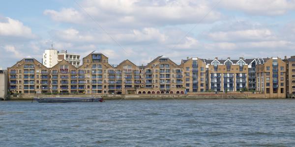 Лондон реке Темза здании город дизайна Сток-фото © claudiodivizia
