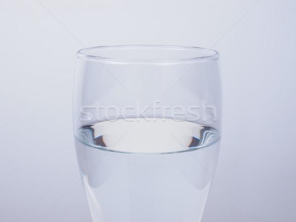 Glas Wasser transparent Trinkwasser trinken Stock foto © claudiodivizia