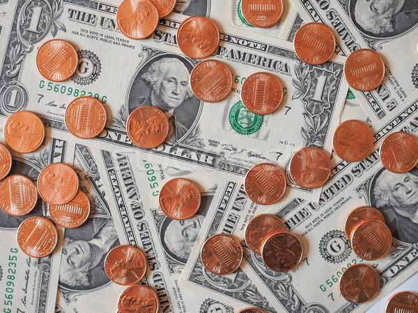 Dollar coins and notes Stock photo © claudiodivizia