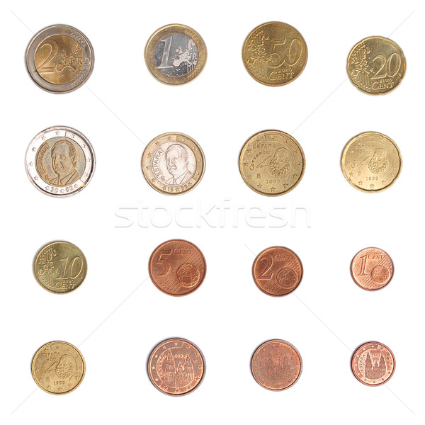 Euro coin - Spain Stock photo © claudiodivizia