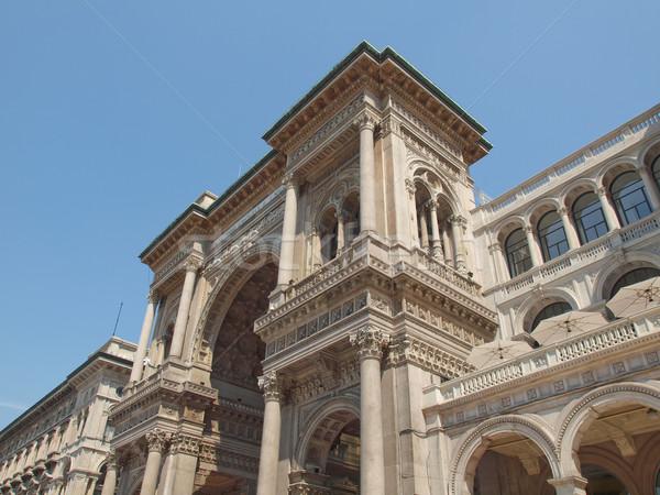 ミラノ イタリア ヴィンテージ ヨーロッパ 古代 町 ストックフォト © claudiodivizia