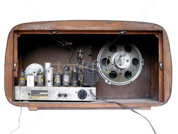 Stock photo: Old AM radio tuner