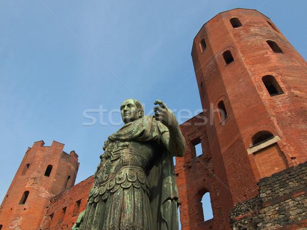 Caesar standbeeld Italië deur Stockfoto © claudiodivizia