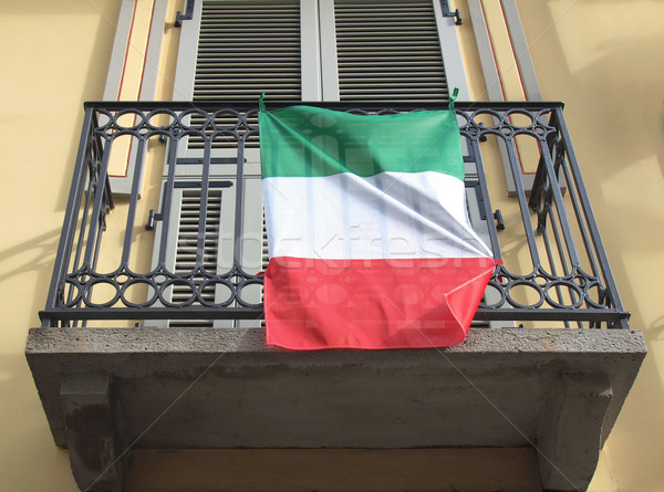 Drapeau italien Italie pavillon blanche pays italien Photo stock © claudiodivizia