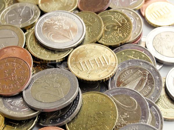 Euro quadro moedas dinheiro europeu moeda Foto stock © claudiodivizia